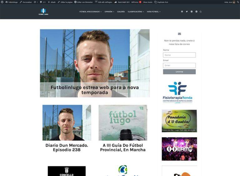 Nova web Fútbolinlugo